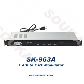 Single Adjacent Channel Audio Video RF Modulator for Cable System